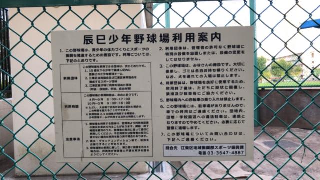 辰巳公園(辰巳少年野球場)